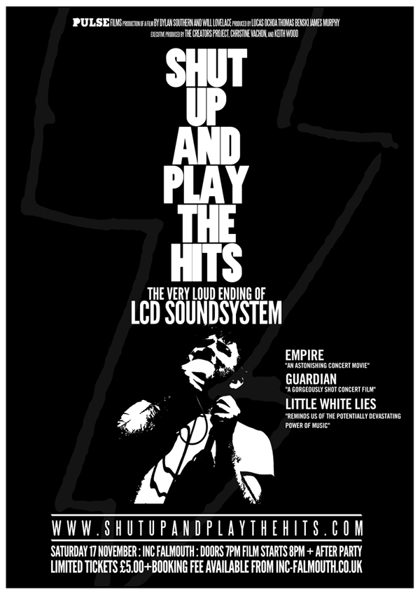 LCD Soundsystem poster – Shut up and play the hits